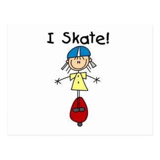 棒の姿のスケートボーダーのTシャツおよびギフト ポストカード