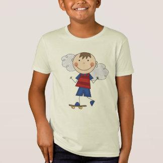 棒の姿の男の子のスケートボーダーのTシャツおよびギフト Tシャツ