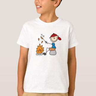 棒の姿の調理師のワイシャツ Tシャツ