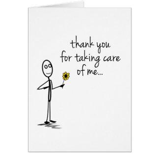 棒の姿はNotecardナース感謝していしています カード