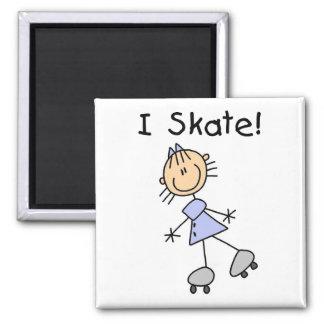 棒の姿IのスケートのTシャツおよびギフト マグネット