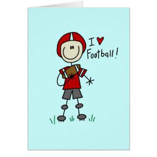 棒の姿I愛フットボールのTシャツおよびギフト カード