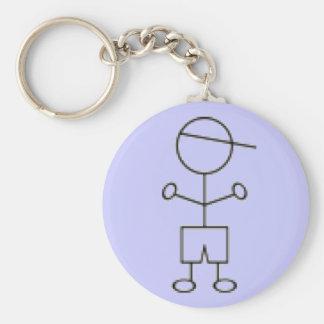 棒の男の子Keychain -青 キーホルダー