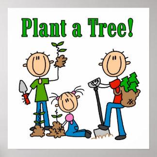 棒は植物を木のTシャツおよびギフト計算します ポスター
