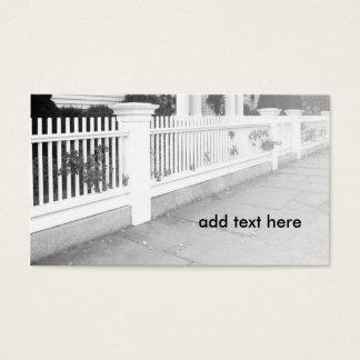 棒杭の囲いの白黒イメージ 名刺