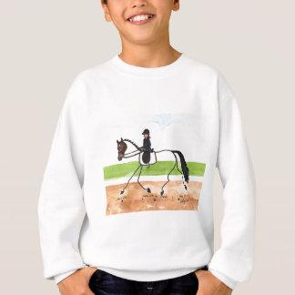 棒馬のブラウンの早足の馬場馬術 スウェットシャツ
