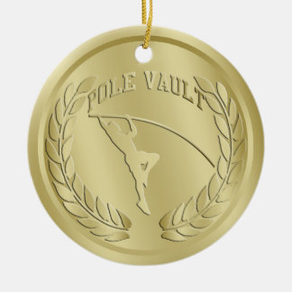 棒高跳び金ゴールドによってある調子を与えられるメダルオーナメント セラミックオーナメント