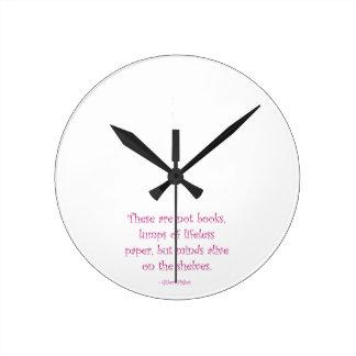 棚で生きた心 ラウンド壁時計