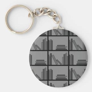 棚の本。 灰色および黒 キーホルダー