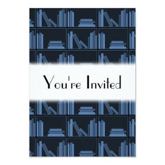 棚の濃紺の本 カード