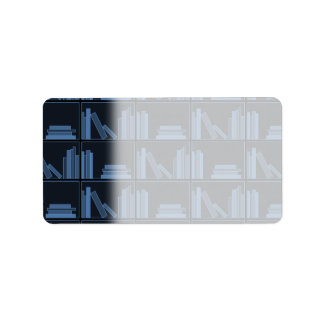 棚の濃紺の本 ラベル