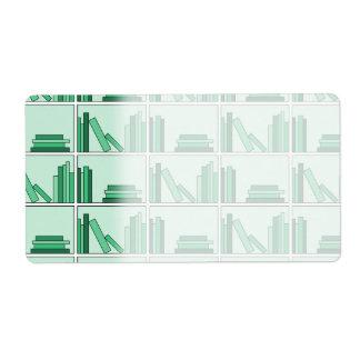 棚の緑の本 ラベル