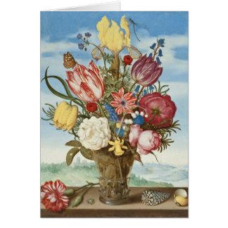 棚の花の花束 カード