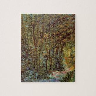 森のゴッホ道、ヴィンテージのファインアート ジグソーパズル