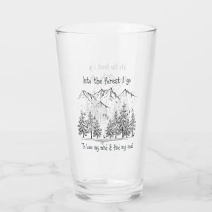 森の中へ行き心を失い魂を見つけ タンブラーグラス