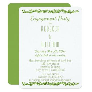 森の優雅|の結婚のつる植物の婚約パーティ 10.8 X 14 インビテーションカード