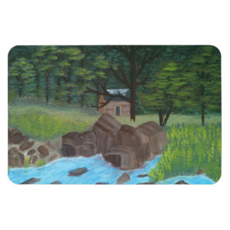 森の小屋 マグネット