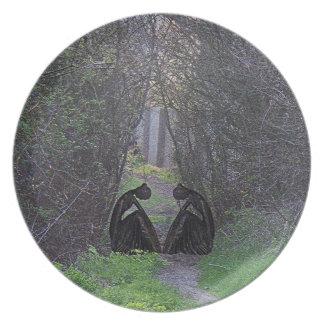 森の彫像 プレート