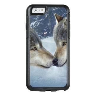 森の恋人のオオカミ オッターボックスiPhone 6/6Sケース