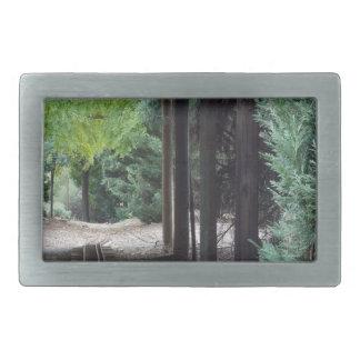 森の木 長方形ベルトバックル