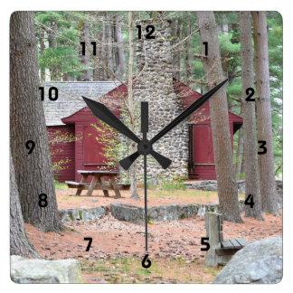 森の柱時計の小屋 スクエア壁時計