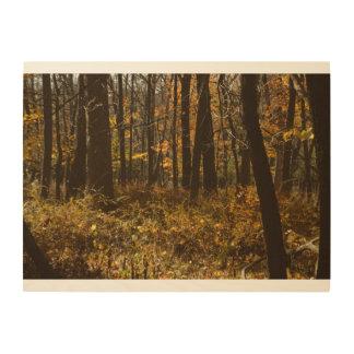 森の歩行 ウッドウォールアート