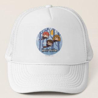 森の漫画ハリー、Ron、及びHermioneの飛行 キャップ