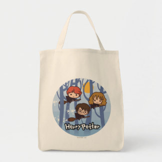 森の漫画ハリー、Ron、及びHermioneの飛行 トートバッグ