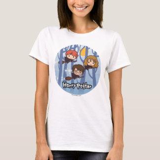 森の漫画ハリー、Ron、及びHermioneの飛行 Tシャツ