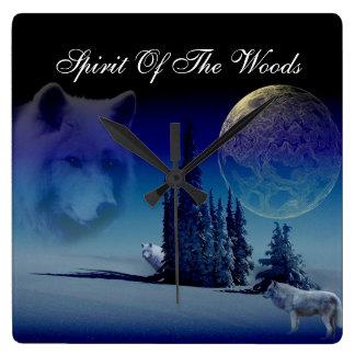 森の精神 スクエア壁時計