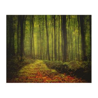 森の道 ウッドウォールアート
