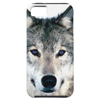 森の野生の自然のアニマルプリントのオオカミの目 iPhone SE/5/5s ケース