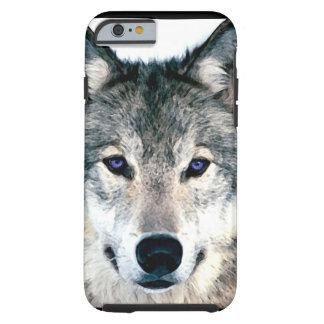森の野生の自然動物のオオカミの目 ケース