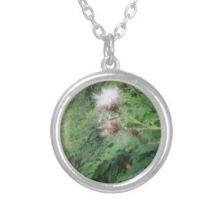 森の野生の花 シルバープレートネックレス