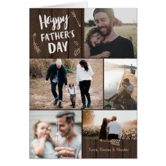森の5人の写真の父の日カード グリーティング・カード