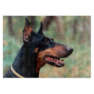 森の(犬)ドーベルマン・ピンシェル カッティングボード