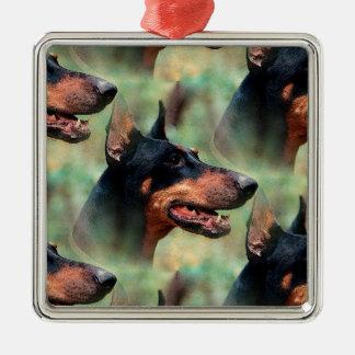 森の(犬)ドーベルマン・ピンシェル メタルオーナメント