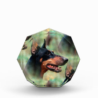 森の(犬)ドーベルマン・ピンシェル 表彰盾