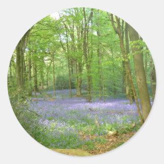 森のBluebells ラウンドシール