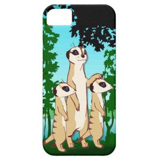 森のiFamily Meerkatの歩行 iPhone SE/5/5s ケース