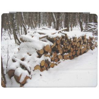森のiPadカバーの丸太の山 iPad カバー