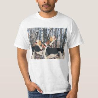 森のTシャツのTreeingの歩行者のCoonhounds Tシャツ