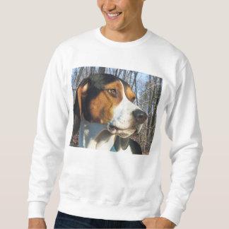 森のTreeingの歩行者のCoonhound スウェットシャツ