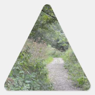 森林および足道 三角形シール