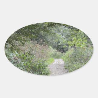 森林および足道 楕円形シール