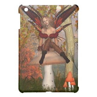 森林が付いているtoadstoolの秋の妖精のモデル iPad mini カバー