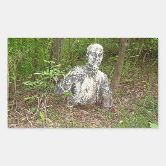 森林で断念される 長方形シール