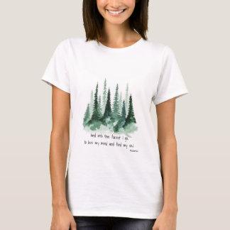 森林に Tシャツ