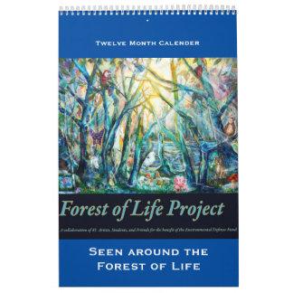 森林のまわりで見られる生命カレンダーの森林 カレンダー