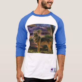 森林のカラフルなオオカミ Tシャツ